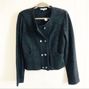 CAbi Wool Knit My Fair Jacket Blazer. Size L